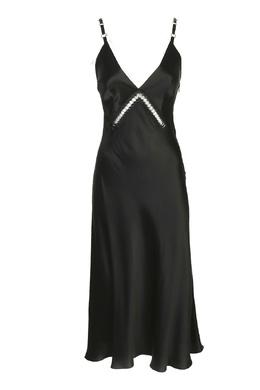 Черное миди-платье из шелка Alberta Ferretti 1771157696