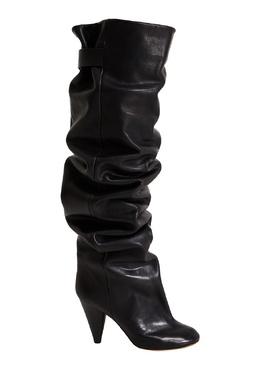 Черные кожаные ботфорты Likita Isabel Marant 140157745