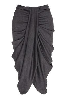 Серая юбка с драпировками Datisca Isabel Marant 140157736