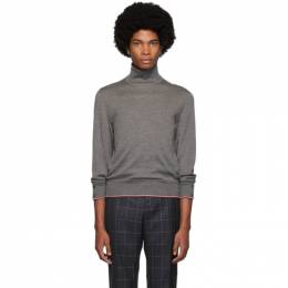 Thom Browne Grey Cashmere Classic Turtleneck MKA258A-00011