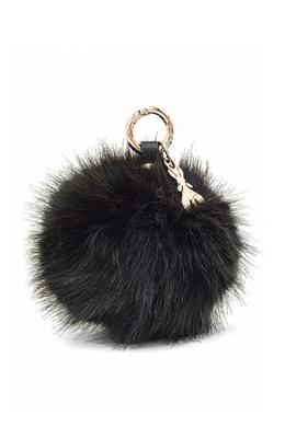 Черный меховой брелок Patrizia Pepe 1748158350