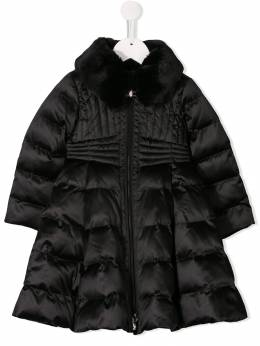 Elisabetta Franchi La Mia Bambina куртка-пуховик с контрастным воротником EGGB070133UE037