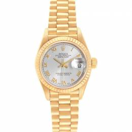 Rolex Silver 18K Yellow Gold President Datejust 69178 Women's Wristwatch 26 MM 233592