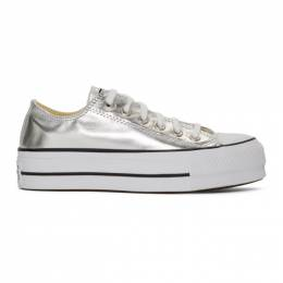 Converse Silver Chuck Taylor All Star Lift Sneakers 192799F12802805GB
