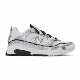 New Balance White and Silver X-Racer Sneakers 192402F12802109GB