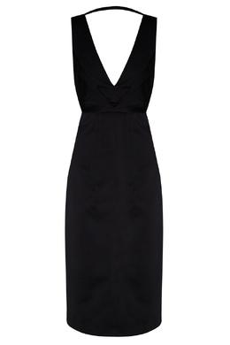 Черное платье с V-образным вырезом No. 21 35157709
