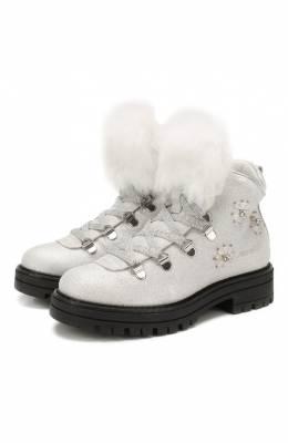 Кожаные ботинки с меховой отделкой Simonetta SITR0013/CHIANTI/28-34