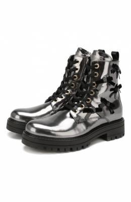 Кожаные ботинки с меховой отделкой Simonetta SITR0006/MIRR0R/35-40