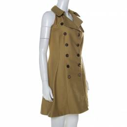 MCQ by Alexander McQueen Beige Cotton Trench Style Dress M