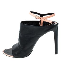 Balenciaga Black Leather Ankle Strap Sandals Size 40