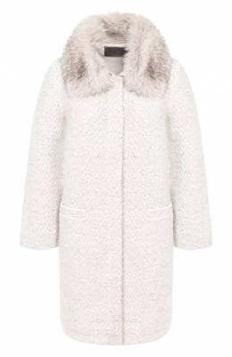 Пальто с меховым воротником D'Exterior 49600/V