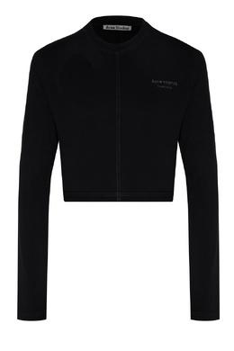 Черный спортивный джемпер с логотипом Acne Studios 876157764