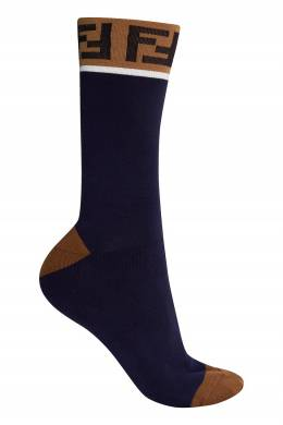 Синие носки с монограммами Fendi 1632157984