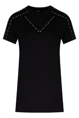 Черная футболка с декором Maje 888157963