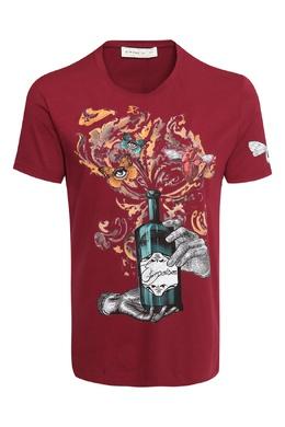 Бордовая футболка с принтом Etro 907158633