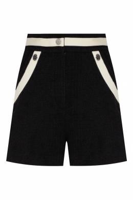 Черные твидовые шорты с контрастной отделкой Maje 888157962