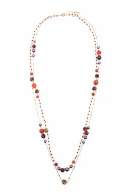 Двойное ожерелье с комбинированными бусинами Etro 907158788