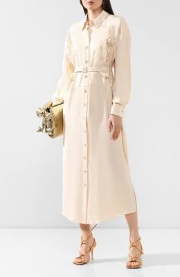 Платье из смеси вискозы и шелка Jacquemus 193DR07/18130