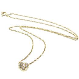 Tiffany & Co. Heart Diamond 18K Yellow Gold Pendant Necklace 235016