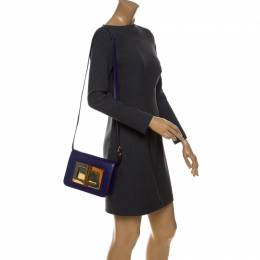 Tom Ford Purple Leather Small Natalia Crossbody Bag 232630