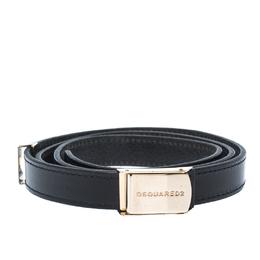 Dsquared2 Black Leather Belt 85CM 235194