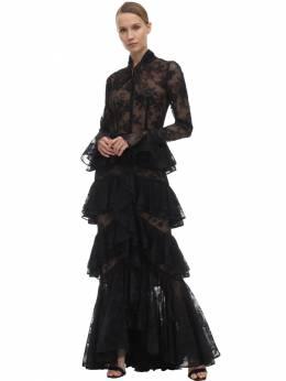 Кружевное Платье С Оборками Ingie Paris 70I51X006-QUEgTk9JUg2