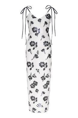 Платье без рукавов белого цвета Self-portrait 532158958
