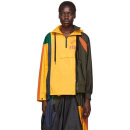 Nike Yellow and Multicolor Sacai Edition NRG Ni-01 Hooded Anorak CD6297-739