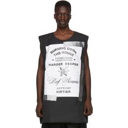 Raf Simons Black Templa Edition Oversized Wadded Vest 192287M18500103GB