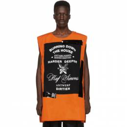 Raf Simons Orange Templa Edition Oversized Wadded Vest 192287M18500301GB