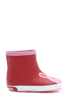 Красные резиновые сапоги с декором Miki House 3018159743