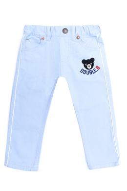 Голубые брюки с нашивкой Miki House 3018159656