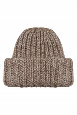Коричневая шапка с широким отворотом Alena Akhmadullina 73159935