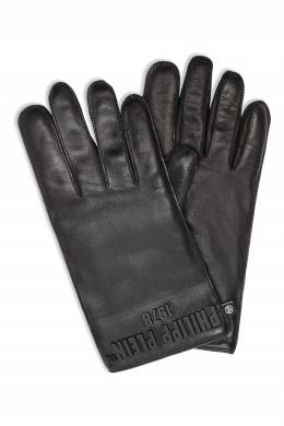 Черные перчатки с логотипом Philipp Plein 1795159411
