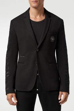 Черный пиджак с вышивкой Philipp Plein 1795159823