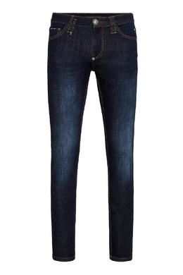 Облегающие темно-синие джинсы Philipp Plein 1795159794