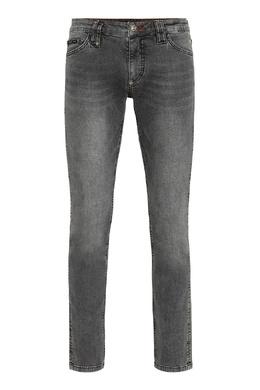Серые облегающие джинсы Philipp Plein 1795159793