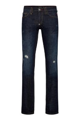 Темно-синие джинсы с потертостями Philipp Plein 1795159792