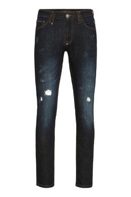 Темно-синие джинсы из эластичного денима Philipp Plein 1795159791