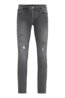 Серые джинсы с потертостями Philipp Plein 1795159790