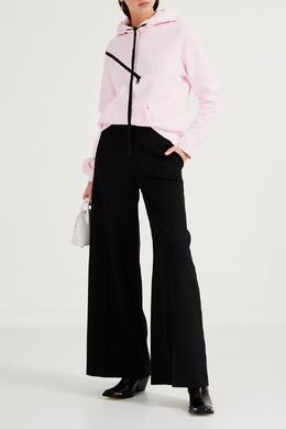 Розовое худи с асимметричным разрезом на молнии Unravel Project 2852160115