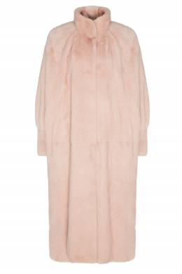 Светло-розовая норковая шуба с воротником-стойкой Alena Akhmadullina 73159918