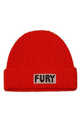 Алая шапка бини с вышивкой Essentiel Antwerp 754158899