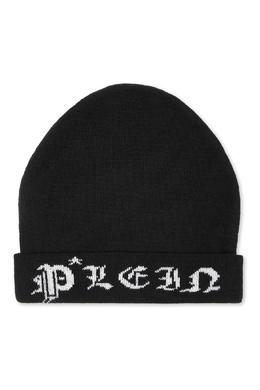 Трикотажная шапка черного цвета Philipp Plein Kids 2714159326