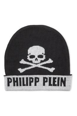Двухцветная шапка с черепом Philipp Plein Kids 2714159324