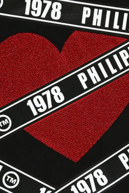 Свитшот с логотипами и стразами Philipp Plein Kids 2714159282