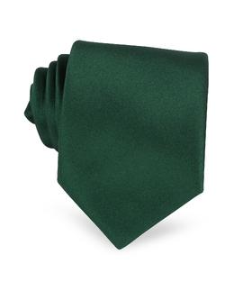 Однотонный Шелковый Галстук Forzieri 195 verde scuro