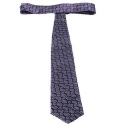 Ermenegildo Zegna Purple Ring Pattern Silk Jacquard Classic Tie 235481