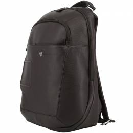 Piquadro Dark Brown Leather Backpack