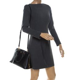 Prada Black Saffiano Lux Leather Promenade Bag